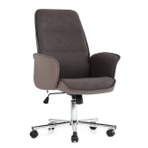 iKayaa Fashion PU Leather + Fabric Executive Office Chair Adjustable 360°Swivel Computer Task Desk Chair 120KG Load Capacity W/ Tilt Lock