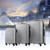 "TOMSHOOハードシェル3ピース荷物セットスーツケース20 ""/ 24""キャリーオン/ 28「旅行スピナーABSトロリー+コンビネーションロック"
