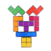 7Pcs DIY Tetris Puzzle LED Light Stackable Desk Table Lamp Constructible Block Toy Retro Game Tower Baby Nightlight