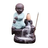 Creative Artistic Incienso Ceramic Incense Burner Cone Tower Censer Smoke Backflow Stream Back Down Holder Home Decor Stove Ash Catcher Buddhist