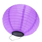 """10"""" Solar Powered LED Light Chinese Nylon Fabric Lantern Lamp Lighting for Garden Outdoors"""