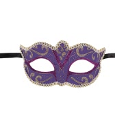Festnight Luxury Sexy Plastic Half Mask Halloween Masquerade Ball Mask with Glitter Lace Decoration