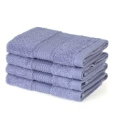 4pcs/set Kitchen Cotton Soft Fast Absorbant Washing Towel Table Dish Washing Cloth Cleaning Hand Drying Towels--White