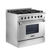 "THOR KITCHEN HRG3618U High-end Style 36"" 6 Burner Gas Range 5.2 Cu. Ft Good Quality Stainless Steel Free Standing Gas Range Professional Kitchen Cooker"