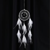 "Fashion Handmade Dream Catcher with Real Feather Bell Bead Wall Hanging Decoration Car Pendant 4.9""Diameter 22.4""Long"