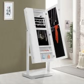 Fashion Standing Jewelry Cabinet Armoire Tilt Adjustable Jewelry Storage Box Organizer with Dressing Mirror