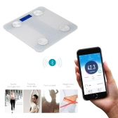 TSEC Multifunctional Scale Body Fat Scale with Large LCD Display Bluetooth Smart Electronic Scale Body Weight Scales for iOS and Android System for Smart Phone