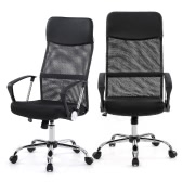 iKayaa Ergonomic Mesh Adjustable Office Executive Chair Stool High-back Swivel Computer Task Chair Office Furniture