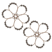 12pcs/set Shower Curtain Rings Hooks for Shower Rod Rust-proof Stainless Steel Curtain Hooks Set Ball Bearing Ring Hook