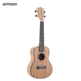 "ammoon 24"" Ukulele 4 Strings Zebrawood Board Rosewood Fretboard OX Bone Saddle Musical Instrument Gift Present"