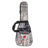 "21"" Ukelele Bag Case Paper Pattern Oxford Backpack Adjustable Shoulder Strap Pocket 6mm Thicken Padded"