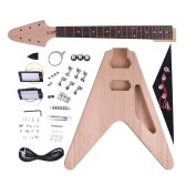 Unfinished DIY Electric Guitar Kit Mahogany Body Rosewood Fingerboard Maple Neck