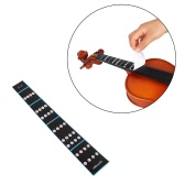 4/4 Violin Fiddle Finger Guide Fingerboard Sticker Label Intonation Chart Fretboard Marker for Practice Beginners