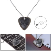 Electric Guitar Pick Necklace Metal with 50cm/ 20in Ball Chain