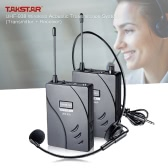 TAKSTAR UHF-938 Wireless Acoustic Transmission System (Transmitter + Receiver) 50m Effective Range with Lavalier Microphone Earphone 3.5mm to 3.5mm Conversion Cable 6.35mm Adapter