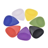 100pcs 0.46mm Guitar Picks Celluloid Picks Color Mixed with Storage Box for Acoustic Folk Classic Electric Guitars Bass