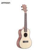 "ammoon 24""  Spruce Sapele Ukulele Rosewood Fretboard 4 Strings Musical Instrument New Year"