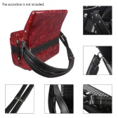 One Pair Adjustable Synthetic Leather Accordion Shoulder Straps for 16-120 Bass Accordions