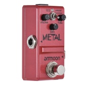 ammoon Nano Series Guitar Effect Pedal Heavy Metal Distortion True Bypass Aluminum Alloy Body