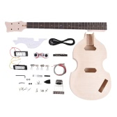 Unfinished DIY Electric Bass Guitar Kit Basswood Body Maple Neck Rosewood Fingerboard