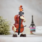 "Mechanical Wind-up Musical Music Box Classical Melody ""For Alice"" Rocking Violin-shaped Birthday Festival Gift for Children Girls"