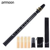 ammoon Mini Pocket Bb Saxophone Sax ABS with Alto Mouthpieces 4pcs Reed Carrying Bag Woodwind Instrument
