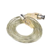 Professional MIDI Extension Cable Copper Shielding Layer with Male to Male 5-Pin DIN Plugs 2 Meters/ 6.6 Feet