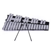 Foldable 30 Note Glockenspiel Xylophone Wooden Frame Aluminum Bars Educational Percussion Musical Instrument Gift with Carrying Bag