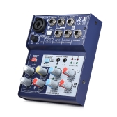ICM UM-35 Compact Size 4-Channel Sound Card Mixing Console Digital Audio Mixer Supports 5V Power Bank USB Power Supply 2-band EQ Built-in 48V Phantom Power for Recording DJ Network Live Broadcast Karaoke