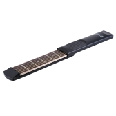Portable Pocket Acoustic Guitar Practice Tool Gadget 6 String 6 Fret Model for Beginner