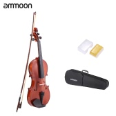 ammoon 1/4 Natural Acoustic Violin Fiddle Spruce Steel String with Case Arbor Bow Stringed Instrument for Music Lovers Beginners