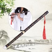 Pluggable Handmade Bitter Bamboo Flute/Dizi Traditional Chinese Musical Woodwind Instrument in F Key for Beginner Study Level