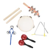 6pcs Musical Instruments Percussion Toy Rhythm Band Set