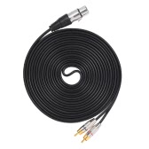 1 XLR Female to 2 RCA Male Plug Stereo Audio Cable Connector Y Splitter Wire Cord (1.5m / 4.9ft)