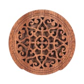 Guitar Wooden Soundhole Sound Hole Cover Block Feedback Buffer Mahogany Wood for EQ Acoustic Folk Guitars