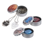 ammoon 3 Sets of Guitar Picks Including Guitar Pick Necklace Celluloid picks Stainless Steel Picks with 3 Metal Storage Boxes for Electric Acoustic Guitars