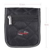 Durable Soft Trombone Euphonium Trumpet Mouthpiece Pouch Bag with 2 Compartments Black