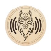 Guitar Wooden Soundhole Sound Hole Cover Block Feedback Buffer Spruce Wood for EQ Acoustic Folk Guitars