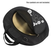 21-Inch Three Pockets Cymbal Bag Packback with Removable Divider Shoulder Strap