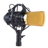 Professional Broadcasting Studio Recording Condenser Microphone Mic Kit with Shock Mount Adjustable Suspension Scissor Arm Stand Mounting Clamp Pop Filter