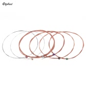 Orphee TX620-P Acoustic Folk Guitar Steel Strings 6pcs Full Set Replacement (.010-.047) High-carbon Steel Core Copper Wire Wound Extra Light Tension with End Ball