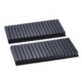 36pcs Full Set Plastic Piano Black Keys Keytops Sharps Replacement Kit Accessory