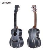 """ammoon 24"""" Wooden Acoustic Soprano Ukulele Ukelele Uke18 Frets 4 Strings Okoume Neck Rosewood Fretboard String Instrument Musical Gift"""