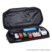 Portable Guitar Effect Pedal Board Pedalboard Aluminum Alloy with Carrying Bag Case Box 2 Fastener Tapes Black