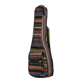 "Special National Style 23"" Ukelele Ukulele Uke Bag Backpack Case 6mm Cotton Padding Durable Colorful with Adjustable Shoulder Strap for Concert Ukeleles"