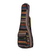 "Special National Style 23"" Ukelele Ukulele Uke Bag Backpack Case 6mm Cotton Padding Durable Colorful with Adjustable Shoulder Strap for Concert Ukeleles"