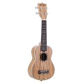"ammoon Zebrawood 21"" Acoustic Ukulele 15 Fret 4 Strings Stringed Musical Instrument"