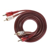 1.5m / 5ft Stereo Audio RCA Cable Cord Wire Dual RCA Male to Dual RCA Male Plug