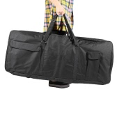 "61-Key Keyboard Electric Piano Organ Gig Bag Soft Case Dual Zipper 39.3"" * 15.7"" 600D Cloth PE Foam Padded"