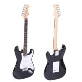 ammoon Full Size Electric Guitar Poplar Wood Body Rosewood Fingerboard with Gig Bag Strap Strings for Beginner